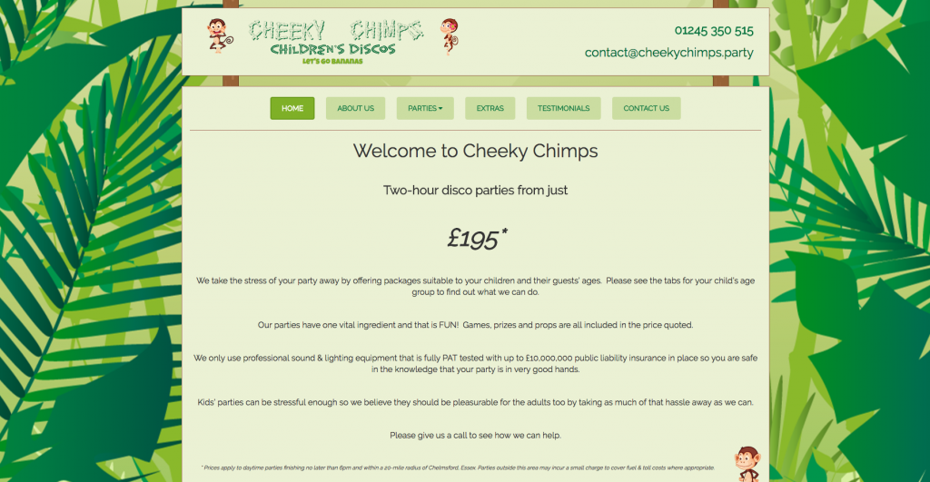 Cheeky Chimps - Children Parties in Chelmsford, Essex